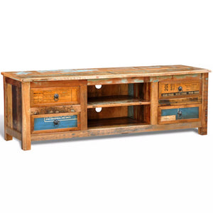 4 Drawer Reclaimed Wood TV Cabinet