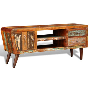 2 Drawer Reclaimed Wood TV Cabinet