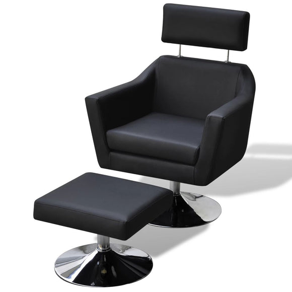 TV Armchair Artificial Leather  (Black)