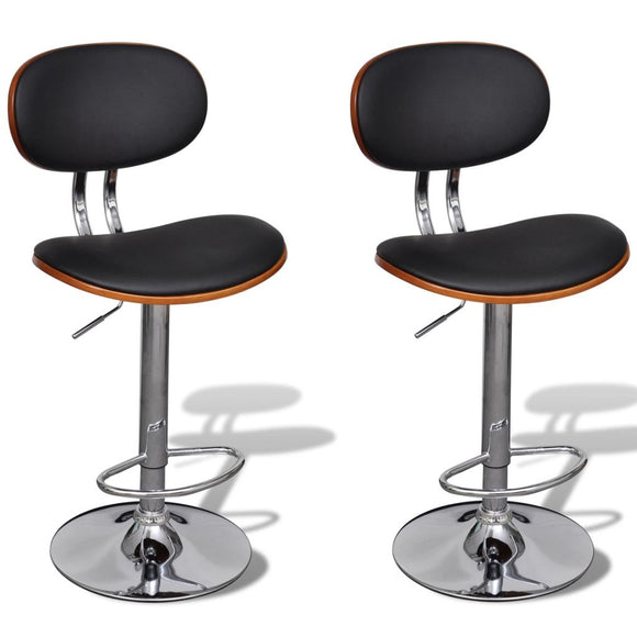 2 pcs Artificial Leather Bar Stool