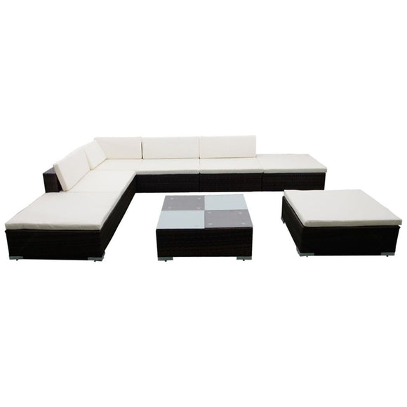 20 Piece  Outdoor Lounge (Brown)