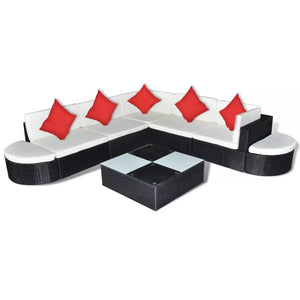 27 Pieces Outdoor Lounge (Black)