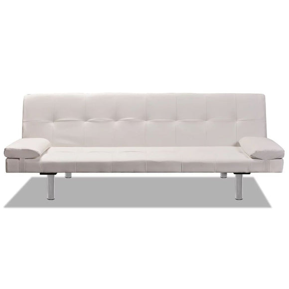 Sofa Bed Adjustable (Cream White)
