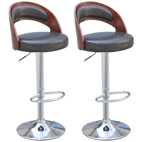 2 pcs Bar Stools Frame Artificial Leather
