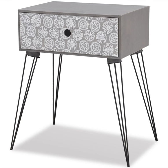 1 Drawer Bed Side Table (Grey)