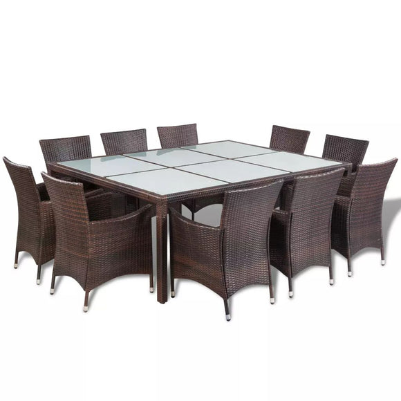 21 Piece Outdoor Dining set (Brown)