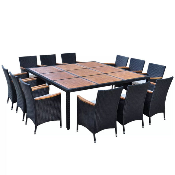 Outdoor Dining Set (Black)