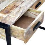 Mango Wood 3 Drawer Console Table
