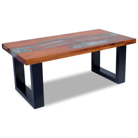 Coffee Table Resin - Solid Teak