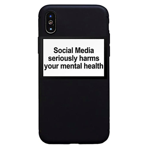 Coque Social media seriously harms your mental health