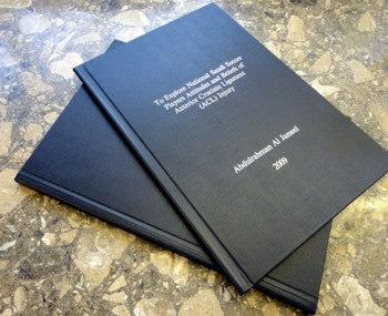 Dissertation and thesis database binding