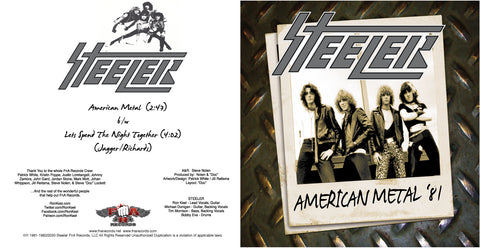 "Steeler Limited Edition 7"" Vinyl Single - Signed By RK"