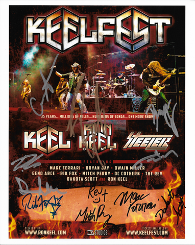 KEELFEST Signed Color 8 X 10