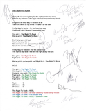 THE RIGHT TO ROCK - All Star Autographed Session Lyrics!