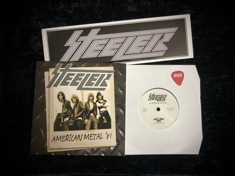 Steeler 40 Year Anniversary Sale: Vinyl 45, Sticker, Guitar Pick
