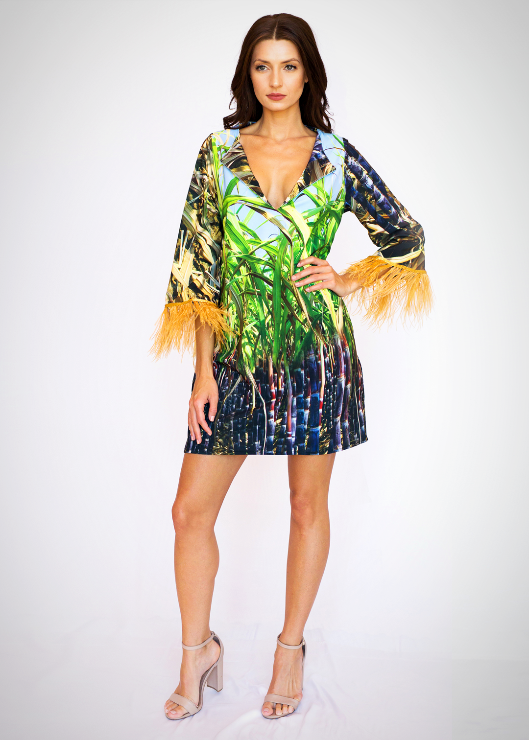 Melani Dress Sugar Cane Print