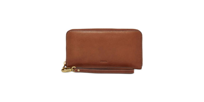 Cartera FOSSIL Emma Leather Zip Wallet