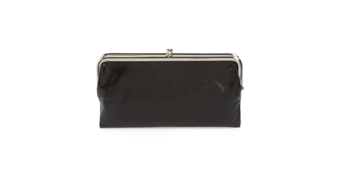 Cartera Hobo Lauren Leather Double Frame Clutch