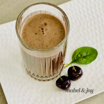 4-Ingredient Chocolate Cherry Smoothie