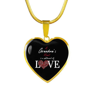 A Grandmas Heart Is A Patchwork of Love - Heart Necklace - shopthara.com