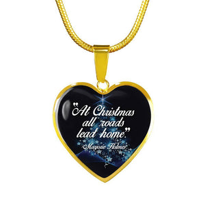 At Christmas, All Roads Lead Home - Gold Heart - shopthara.com