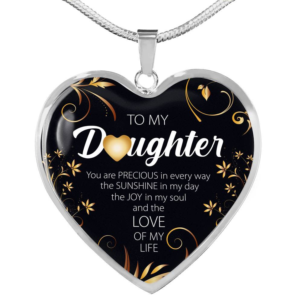 To My Daughter, You Are Precious - Stainless Heart - shopthara.com