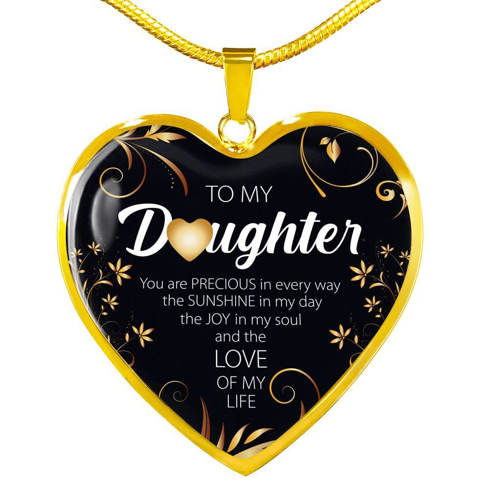 To My Daughter, You Are Precious - Stainless Heart - thara.