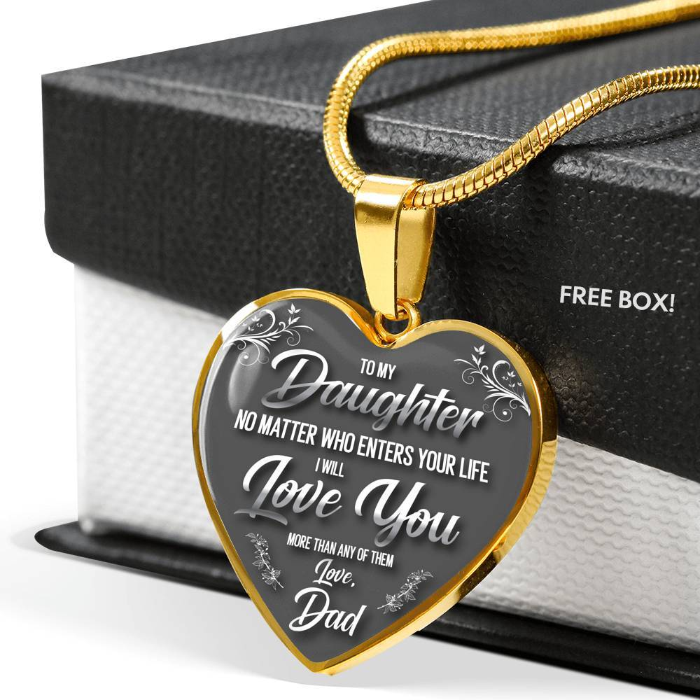 To My Daughter, No Matter What - Dad - Stainless Heart - shopthara.com