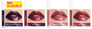 Amazing 4 Lipsticks Combo Pack, Latest Shades, Popular Colors Shimmer Lip Gloss Liquid Lipstick - shopthara.com