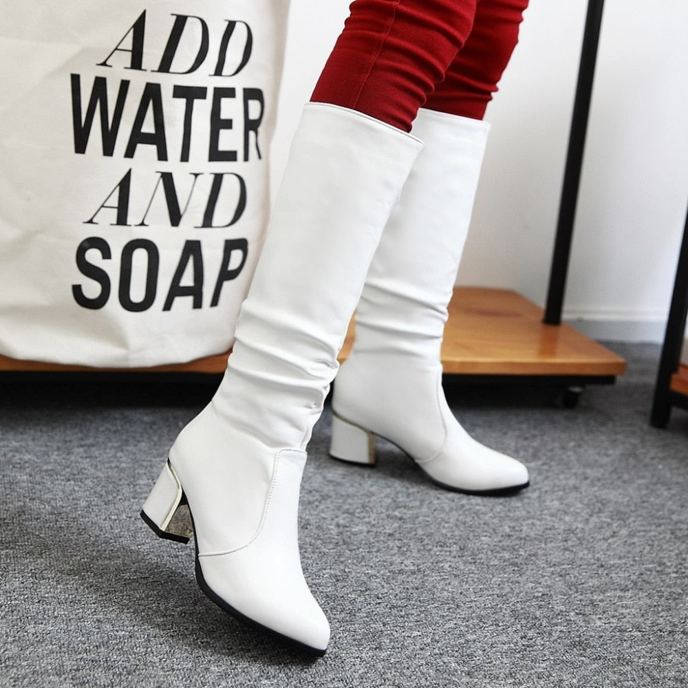 White Short Boots Smart Fashion - shopthara.com