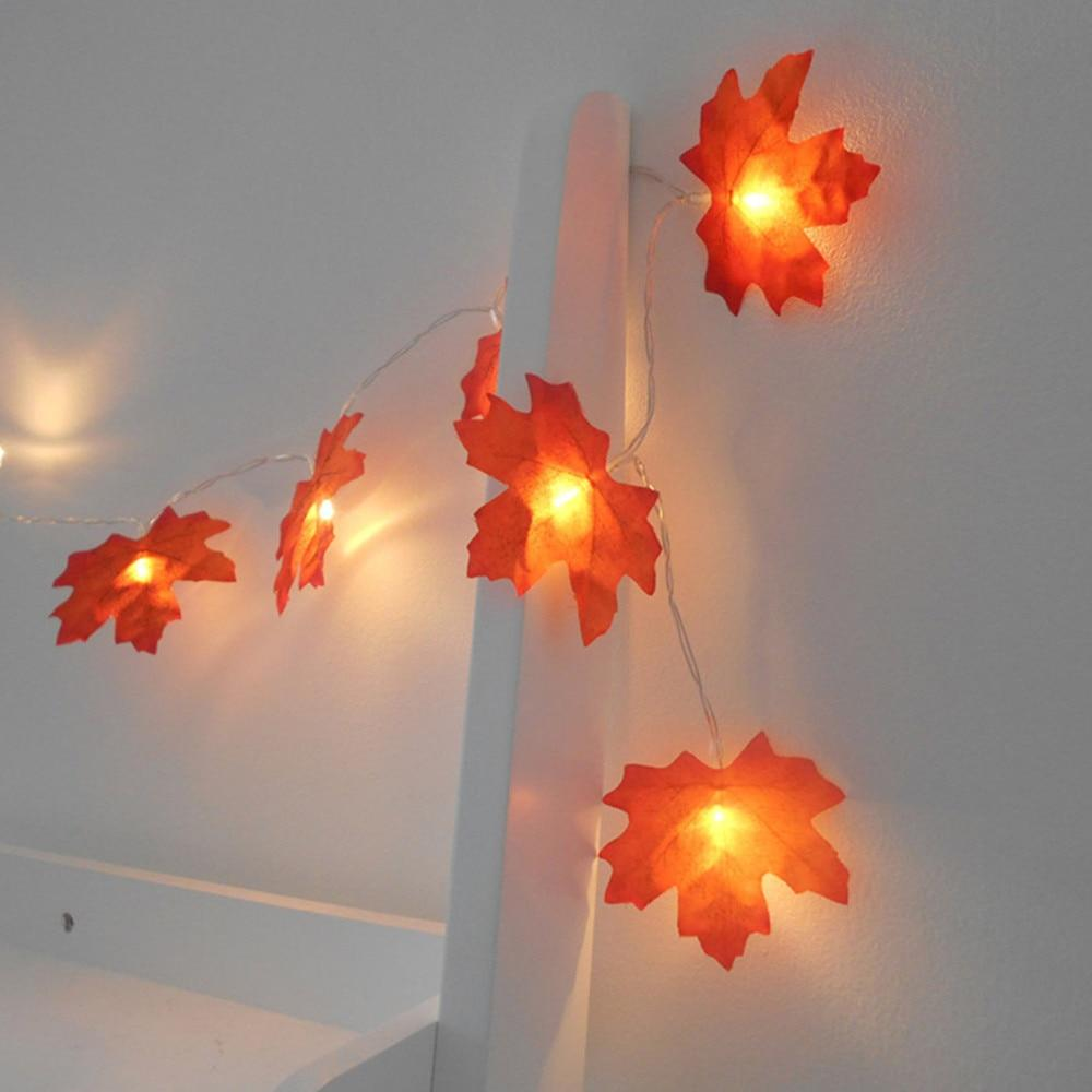 Maple Leaves Garland Led Fairy Lights - shopthara.com