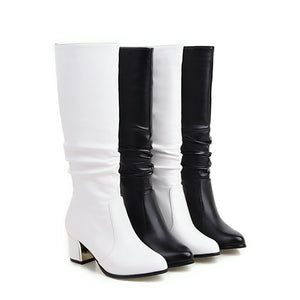White Short Boots Smart Fashion - thara.