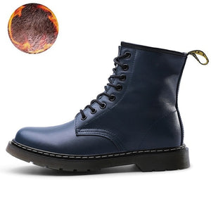 Genuine Leather Ankle Martin Boots for Women - thara.