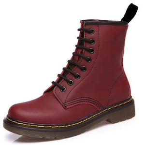 Fashion Cowhide Leather Women's Boots - thara.