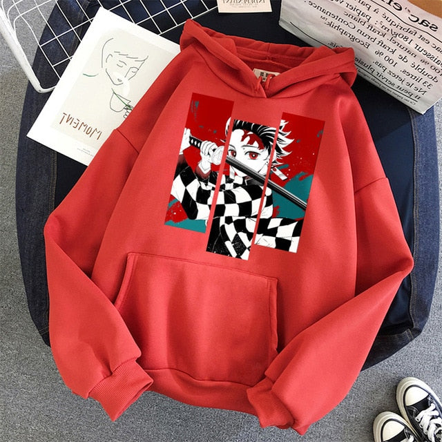 Best-Seller Anime Hoodies - Demon Slayer Anime Tanjiro and Nezuko Hoodie Sweatshirt