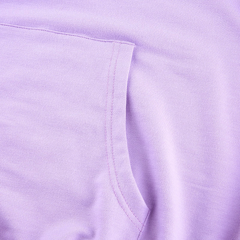 Fashion Pink Purple Oversized Hoodies Sweatshirt Letter Print Casual Long Pullovers