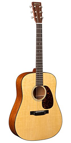 Martin D-18E Acoustic Guitar with Pickup and Hard Case