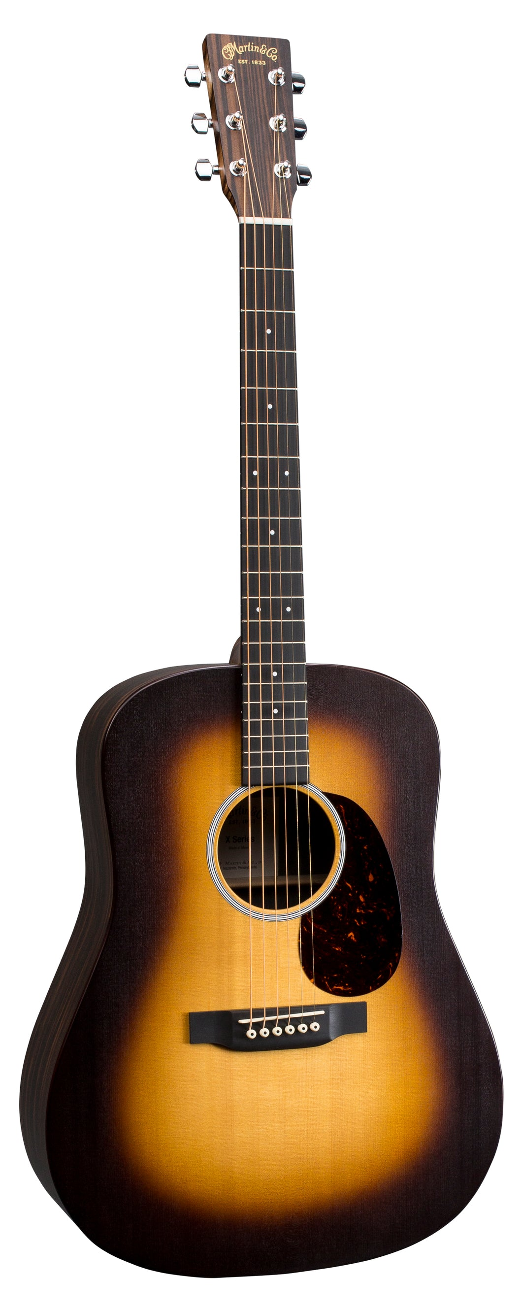Martin DX1AE  Macassar Burst X Series Acoustic Guitar with Sonitone