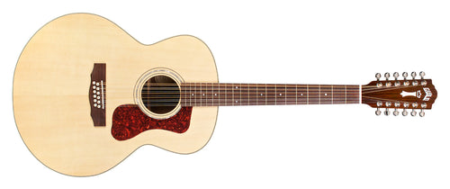 Guild F-1512E Natural Acoustic Guitar With Bag