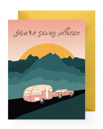 Greeting Card - Congrats | You're Going Places - The Wolf In Me