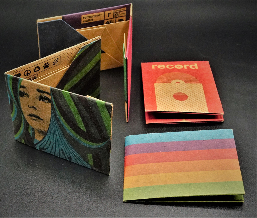 Origami Wallet - Rainbow - The Wolf In Me