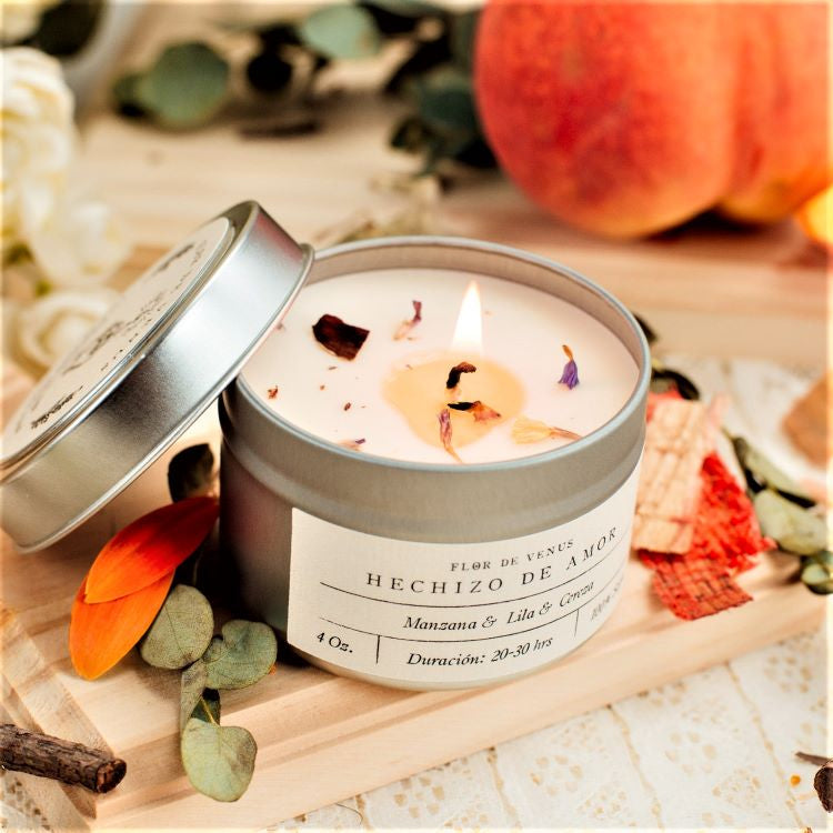 4oz | Soy Candle | Hechizo De Amor | Self Care Love Spell - The Wolf In Me