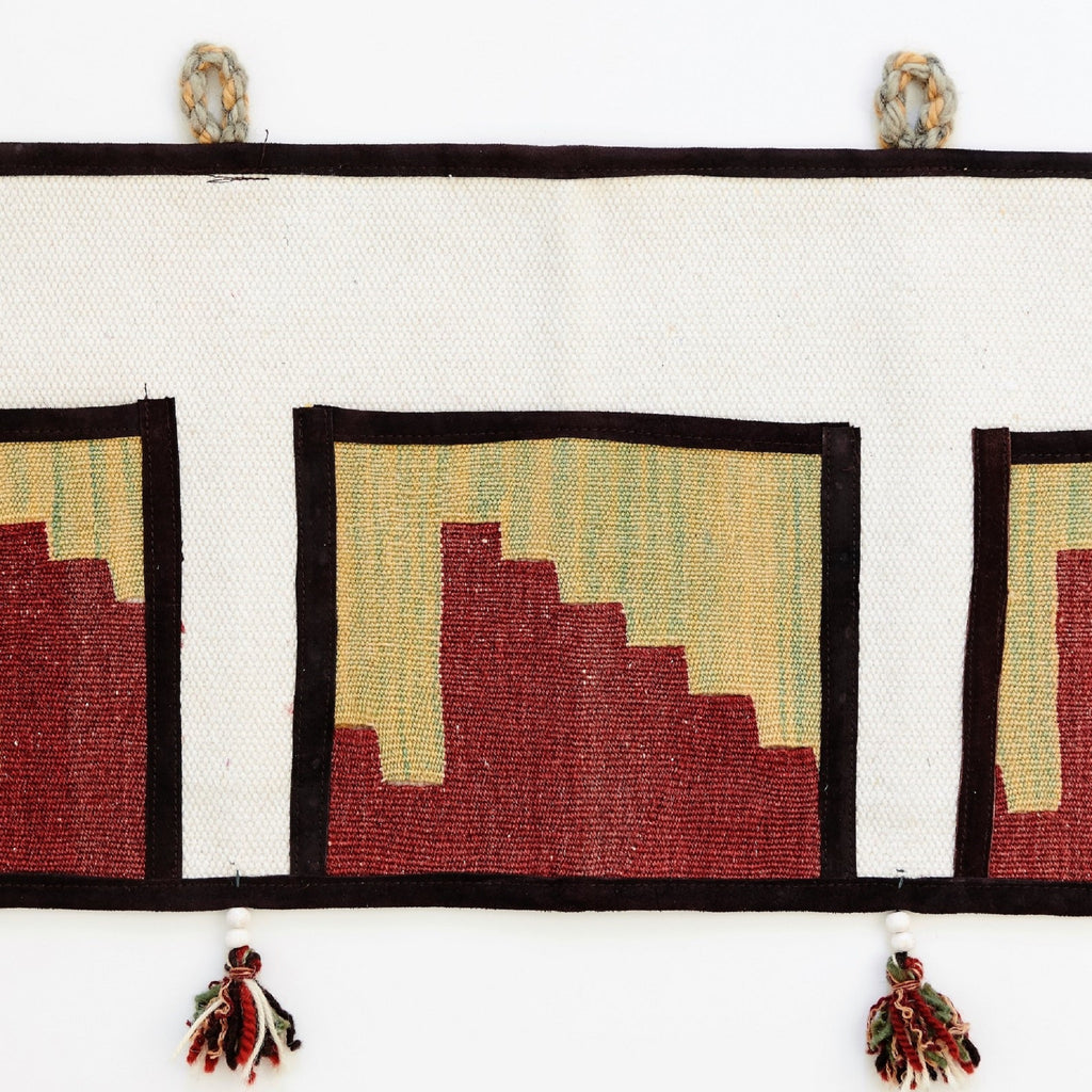 Kilim Pocket Wall Organizer Large - 02 - The Wolf In Me