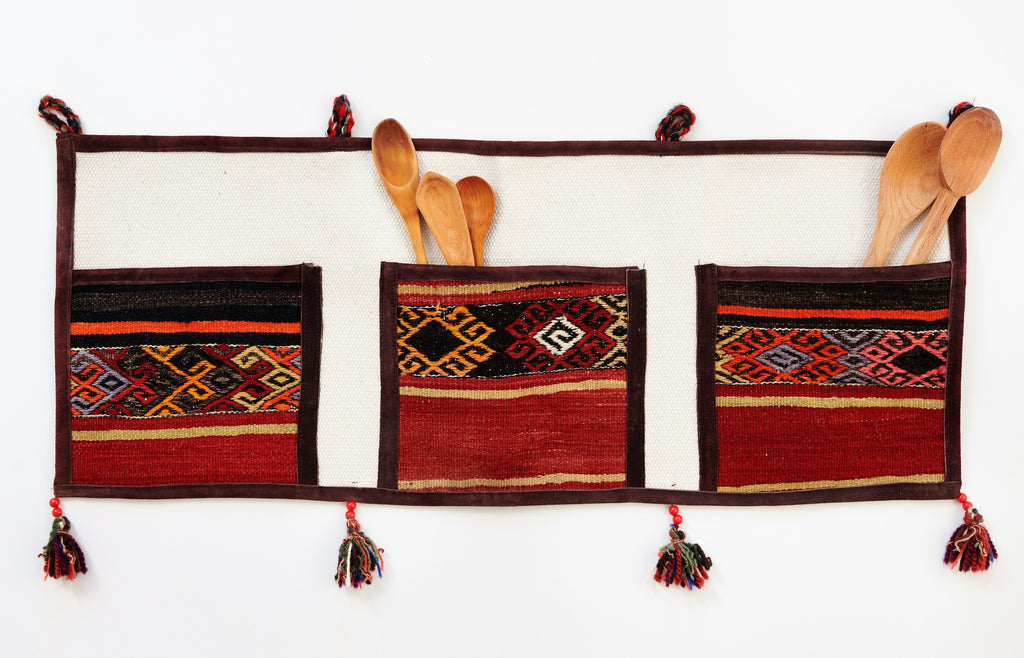 Kilim Pocket Wall Organizer Large - 01 - The Wolf In Me