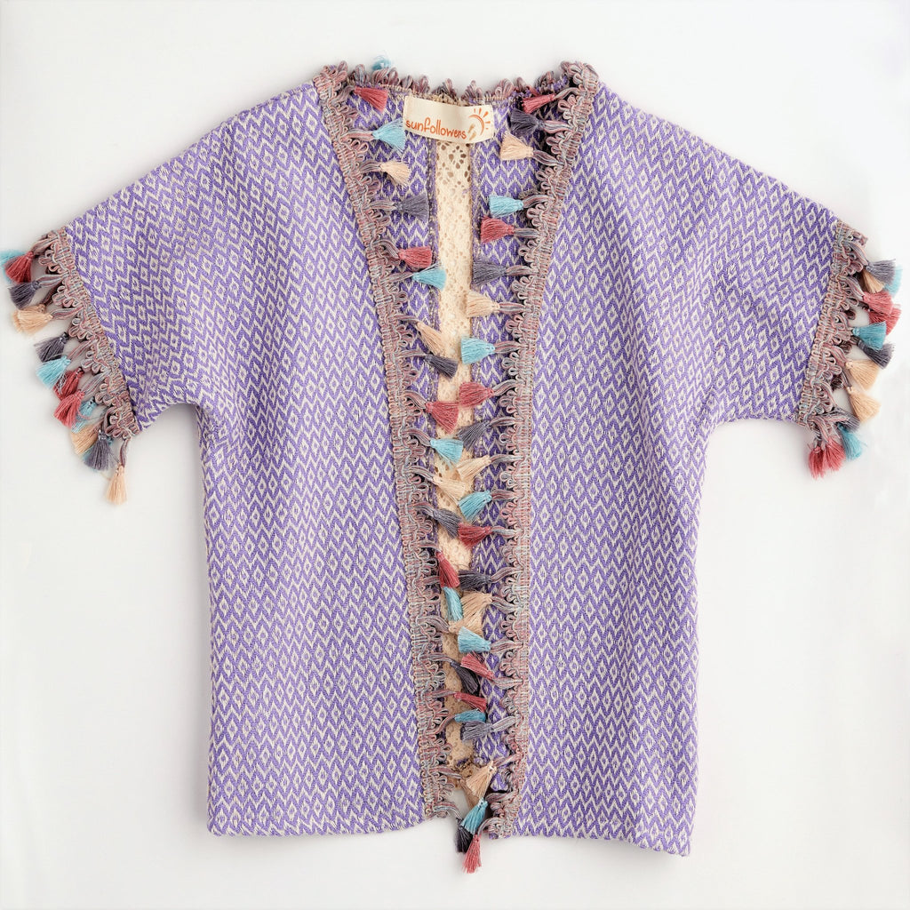 Flower Child Cardigan - Light purple - The Wolf In Me