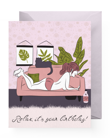 Greeting Card - Birthday | Relax It's Your Birthday - The Wolf In Me