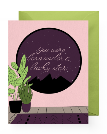 Greeting Card - Birthday | Lucky Star - The Wolf In Me