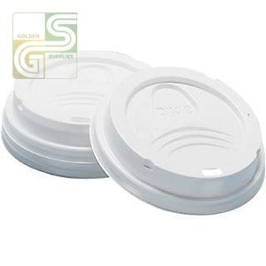 10-24oz White Dome Lids 1000/cs-Golden Supplies Ltd