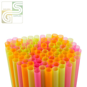 "10"" Assorted Colours Straw Unwrapped 600 Pcs-Golden Supplies Ltd"