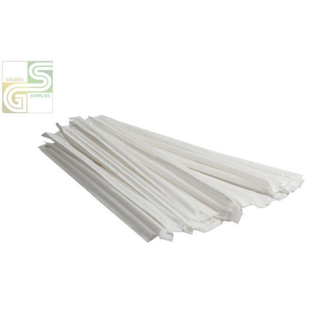 "10"" Straw Wrapped 500 Pcs x 12 Boxes=6000 Pcs-Golden Supplies Ltd"